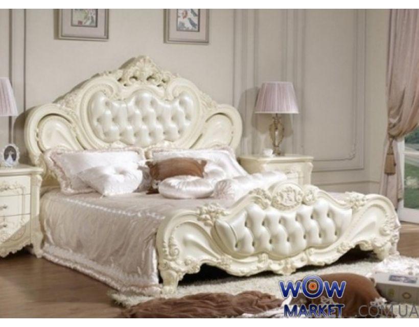 Кровать двуспальная Верона 160х200см с эко кожей белый Акорд