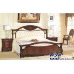 Кровать двуспальная CF 8631 180х200см орех итальянский Акорд