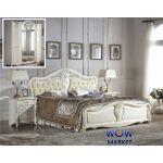 Кровать двуспальная CF 8673 180х200см белый Акорд