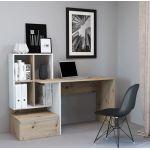 Комп'ютерний стіл Paco 2 (Пако 2) дуб артисан, білий