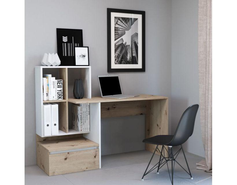 Компьютерный стол Paco 2 (Пако 2) дуб артисан, белый