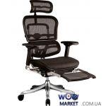 Крісло офісне Ergohuman Plus з підставкою для ніг ергономічне, чорне C.S. Group