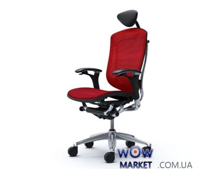 Кресло компьютерное Okamura Contessa (Окамура Контесса), с регулируемым подголовником, сетка