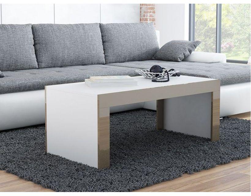 Журнальний столик TESS 120x60 Cama Білий Мат / Латте Глянець