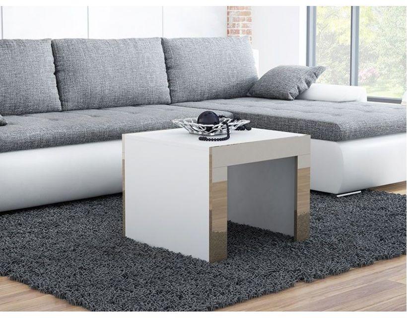 Журнальний столик TESS MINI 60x60 Cama Білий Мат / Латте Глянець