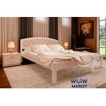 Ліжко двоспальне Британія М з м'яким узголів'ям 160х200 (190) см ДревКомбінат