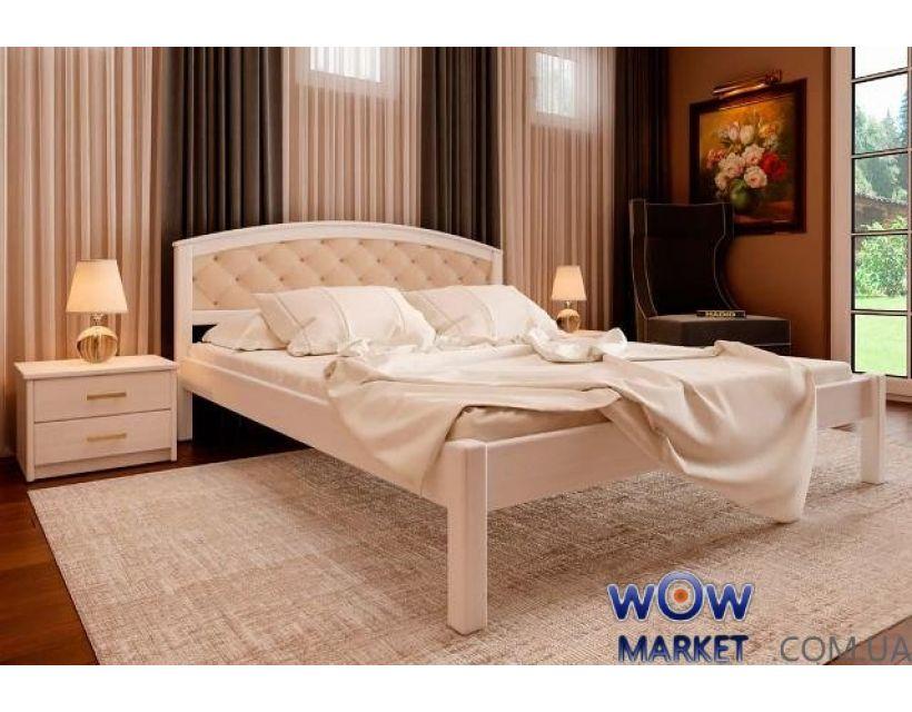 Ліжко полуторне Британія М з м'яким узголів'ям 140х200 (190) см ДревКомбінат