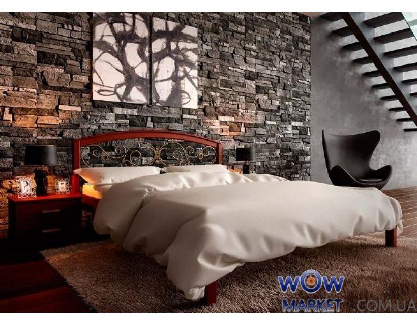 Ліжко двоспальне Британія з куванням 180х200 (190) см ДревКомбінат