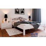 Кровать полуторная Италия К с ковкой 140х200 (190) см ДревКомбинат