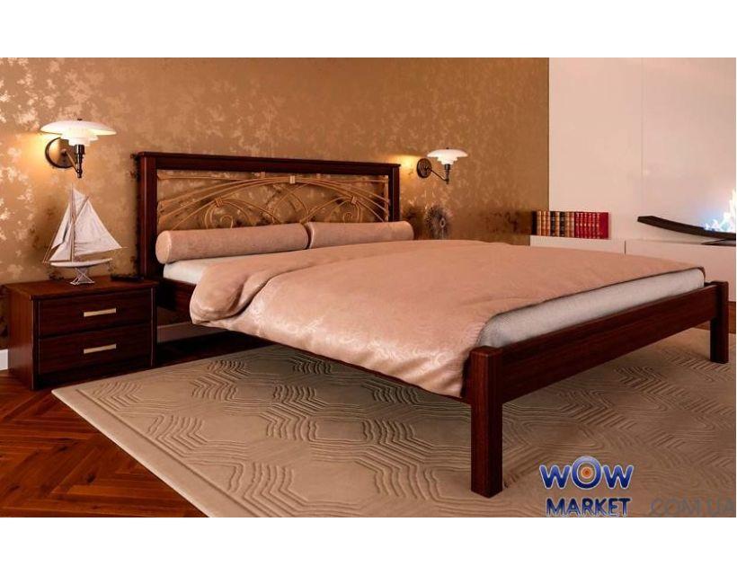 Кровать двуспальная Модерн К с ковкой 180х200 (190) см ДревКомбинат