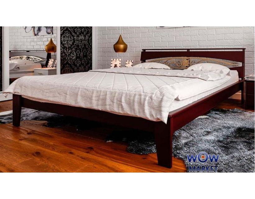 Кровать полуторная Венеция К с ковкой 140х200 (190) см ДревКомбинат