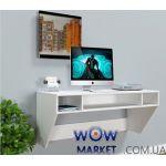 Навісний комп'ютерний стіл ZEUS (Зевс) AirTable-II Mini WT (білий) Escado (Ескадо)