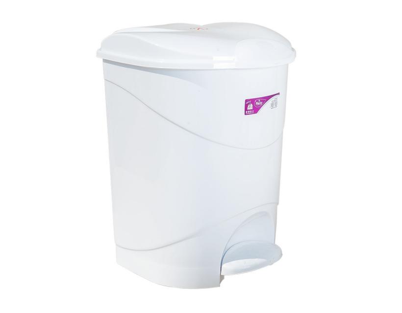 Відро для сміття з педаллю Irak Plastik Bella №1 12л біле