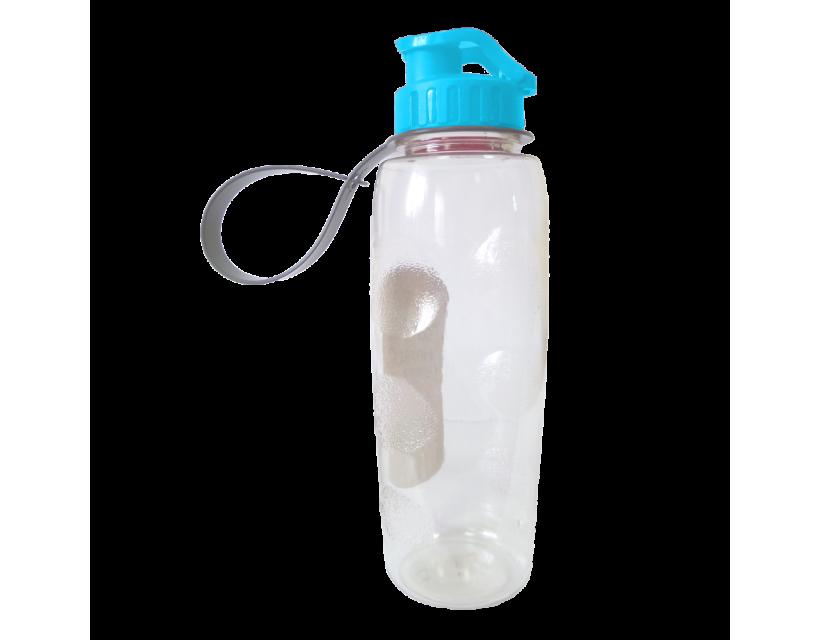 Пляшка для води 0,7 л прозоро-блакитна