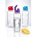 Бутылочка для воды 0,7 л прозрачно-красная