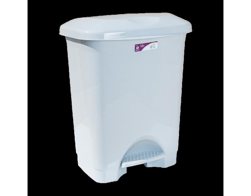 Відро для сміття з педаллю Irak Plastik Stella 45л сіре