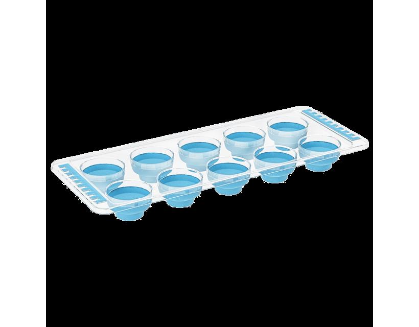 Форма для льда силиконовая синяя