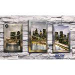 Картина триптих вышитая бисером Нью-Йорк от Пушки Натальи