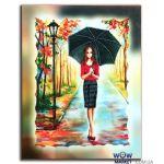 Картина вышитая бисером Осенний дождь от Пушки Натальи
