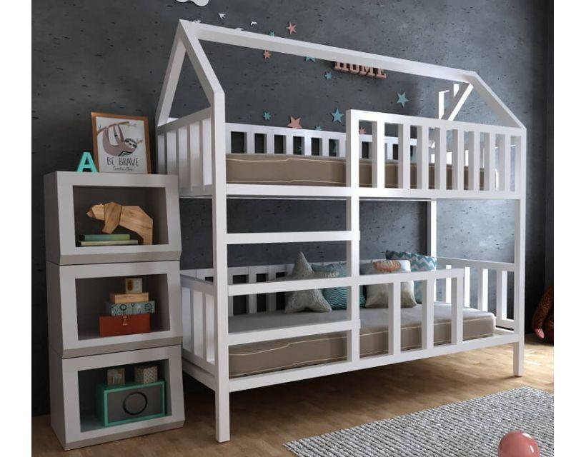 Дитяче двох'ярусне ліжко хатка Моллі