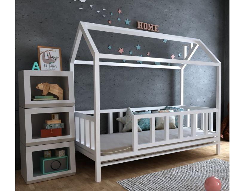 Детская деревянная кровать домик Тедди