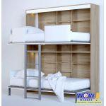 Шкаф кровать двухъярусная со столом ШКГ-2с