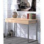 Письмовий стіл Loft Design L-11 дуб борас, ніжки хром