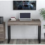 Письмовий стіл Loft Design L-11 дуб палена, ніжки чорні
