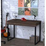 Письмовий стіл Loft Design L-11 горіх модена, ніжки чорні