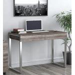Письмовий стіл Loft Design L-11 дуб палена, ніжки хром