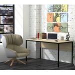 Письмовий стіл Loft Design L3p, Дуб Борас світлий