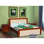 Ліжко двоспальне Фрідом 160 (180) х200см горіх з патиною Мікс Меблі