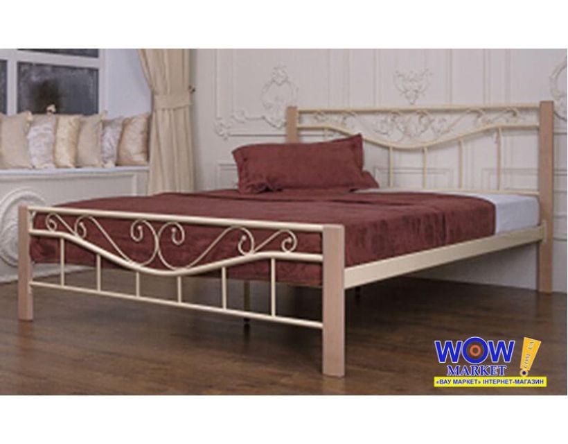 Ліжко Міленіум Вуд 160*200 см, бежевий Мікс Меблі Iron Line