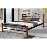 Ліжко Релакс Вуд 160*200 см, чорний Мікс Меблі Iron Line