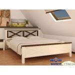 Ліжко двоспальне Нормандія (Сосна) 160х200см Мікс Меблі Уют