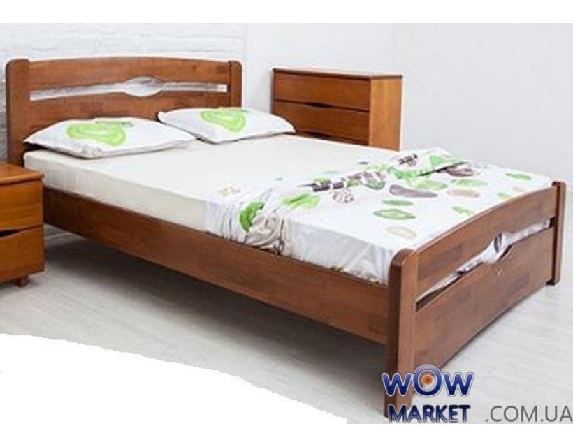 Ліжко односпальне Кароліна 80 (90) х 200 см з узножжям Мікс-Меблі Марія