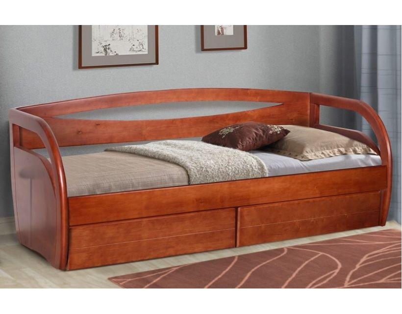 Ліжко Баварія з ящиками 80 (90) * 200 см Прайм