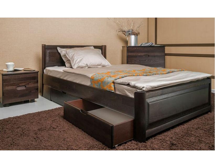Ліжко односпальне Олімп Марго фільонка з ящиками