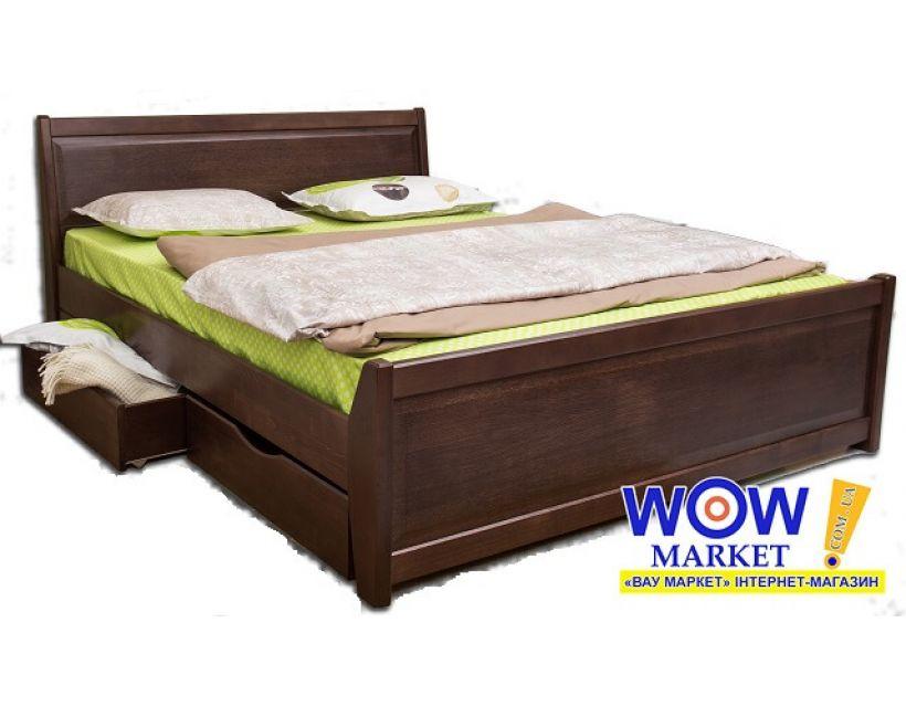 Ліжко двоспальне 200х200 см Олімп Сіті з фільонкою і ящиками