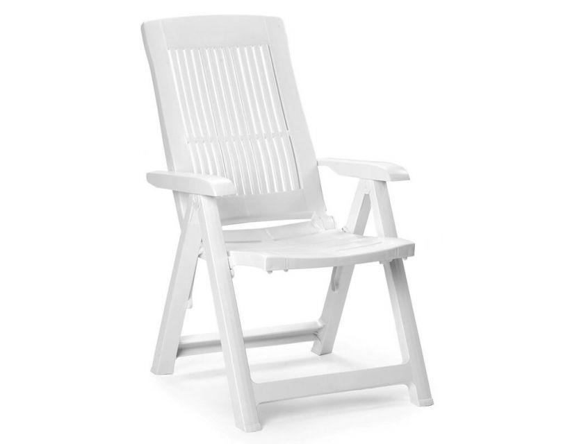 Кресло пластиковое раскладное Tampa белое