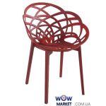 Кресло Flora Матовый красный 51с кирпич сидение, ножки 51с червоні Матовый кирпич 2313 Papatya (Турция)