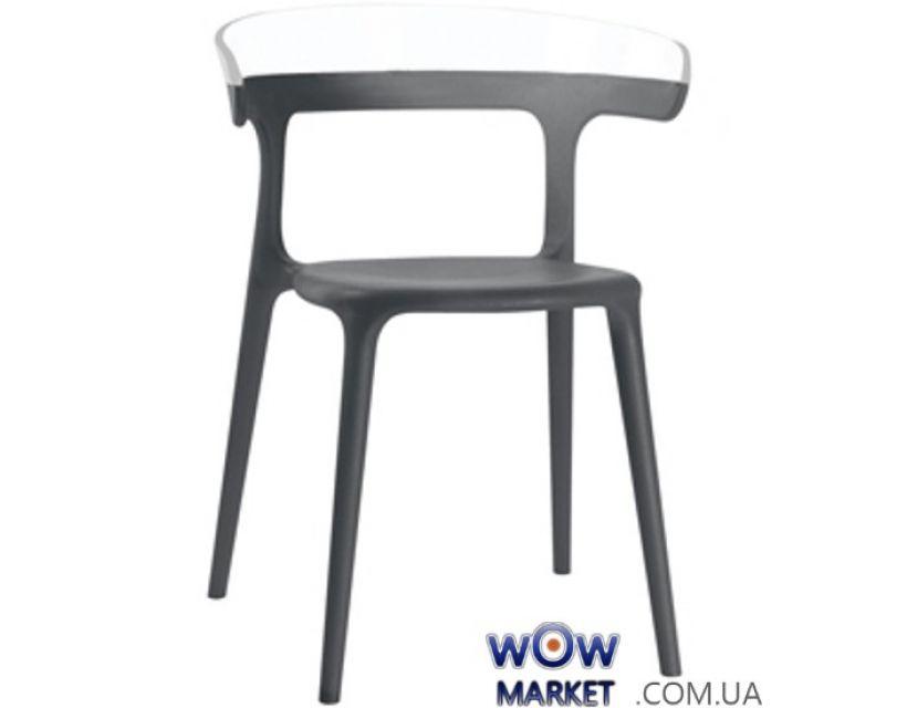 Кресло Luna 2334 антрацит сидение 22 верх Белый 43 Papatya (Турция)