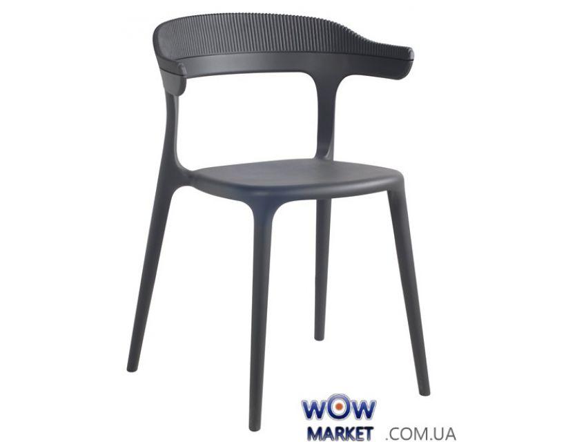 Кресло Luna-Stripe 2335 антрацит сидение 22 верх антрацит 22 Papatya (Турция)