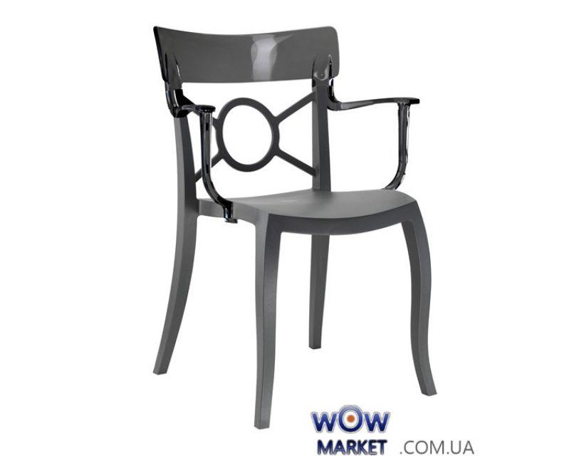 Кресло Opera-K 2342 антрацит сидение 22 верх прозрачно-дымчатый 38 Papatya (Турция)