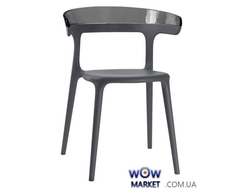 Кресло Luna 2668 антрацит сидение 22 верх прозрачно-дымчатый 38 Papatya (Турция)