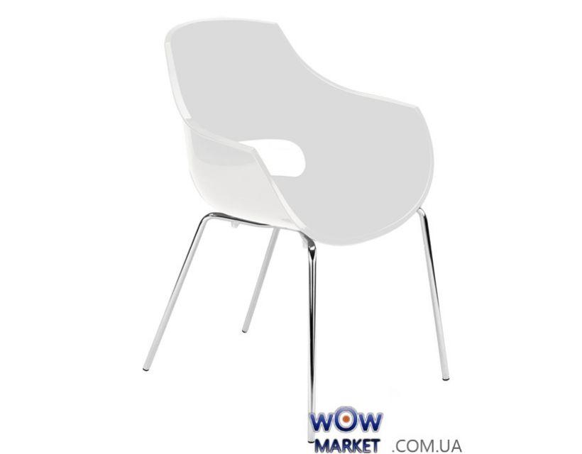 Кресло Opal 2708 ножки хром Белый 43 Papatya (Турция)