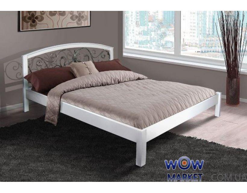 Кровать двуспальная белая Джульета (Ольха) Микс Мебель Элегант