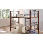 Кровать Миранда двухъярусная 90х200см каштан Domini (Домини)