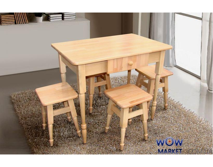Комплект кухонний стіл і 4 табурета Мікс-Меблі