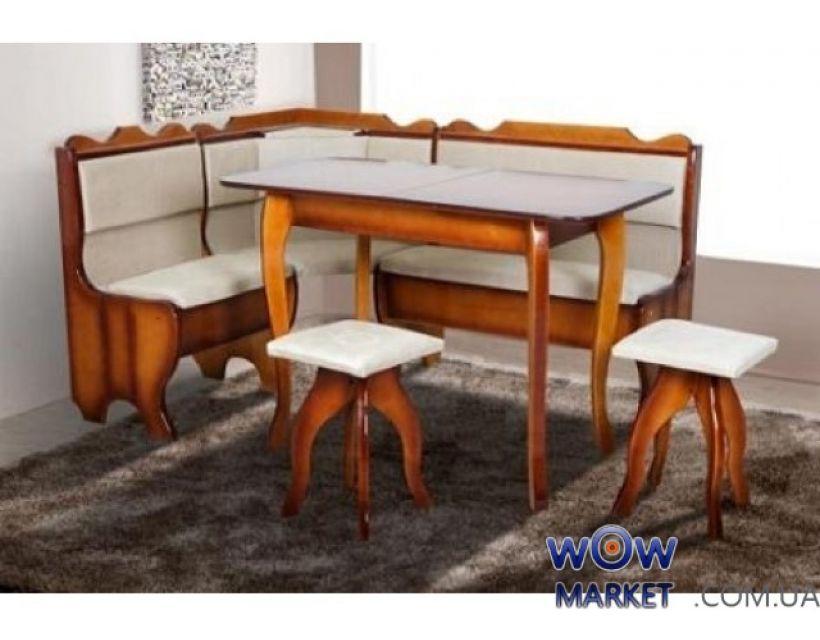 Комплект Ромео (уголок+стол+2 табурета) Микс Мебель